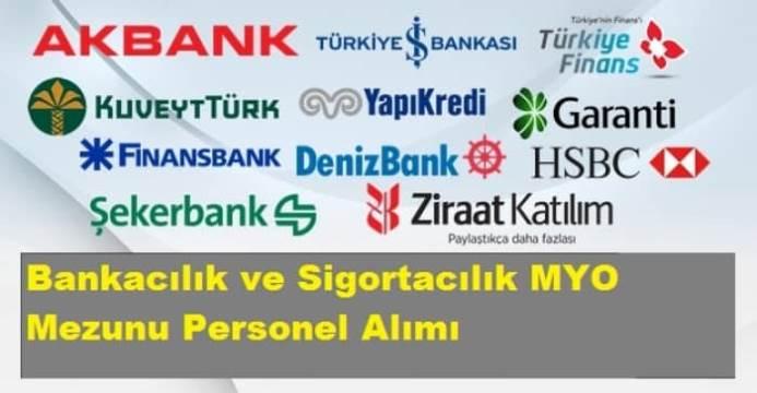 Bankacılık ve Sigortacılık MYO Mezunu İlanı