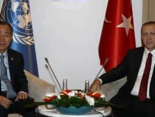 Cumhurbaşkanı Erdoğan, BM Genel Sekreteri Ban ile görüştü