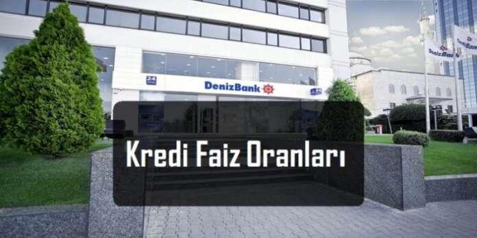 Denizbank Kredi Faiz Oranları 2016