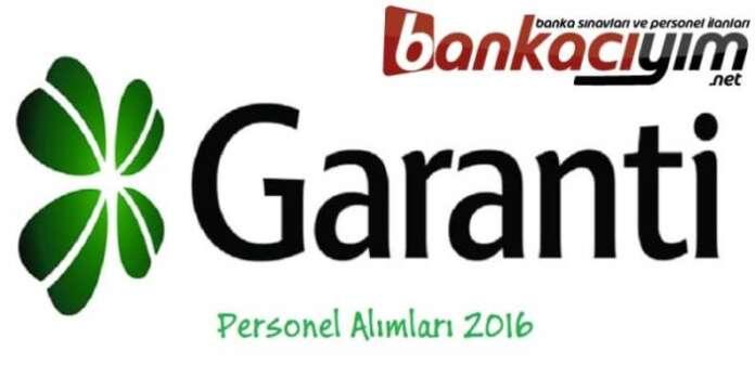 Garanti Bankası Personel Alımları 2016 Eylül
