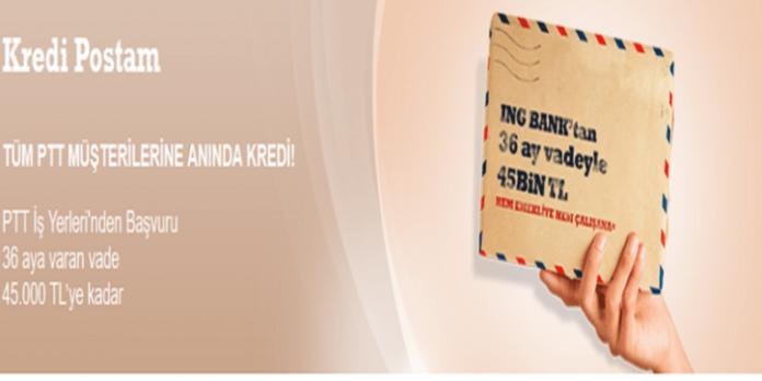 İng Bank PTT İhtiyaç Kredisi