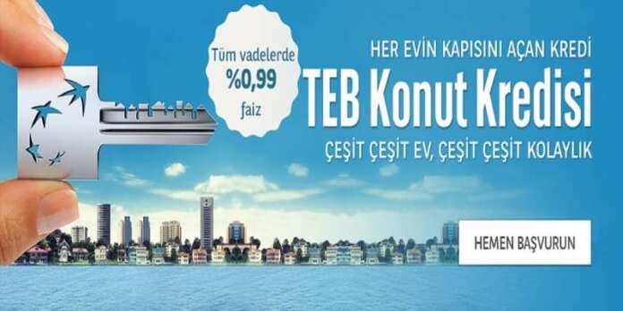 TEB'den Uygun Konut Kredisi Kampanyası