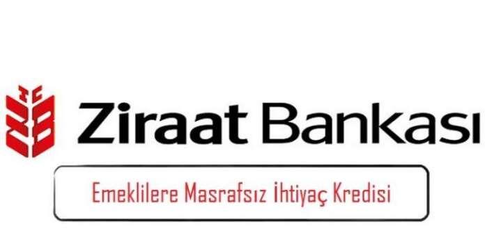 Ziraat Bankası'ndan Emeklilere Masrafsız İhtiyaç Kredisi